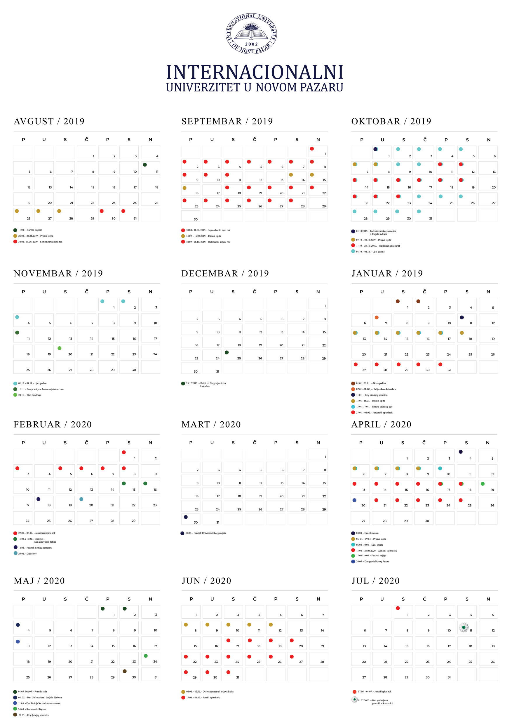 Kalendar Nastave 2018 2019